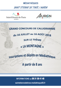 CONCOURS CALLIGRAMME 16-07 au 16-08